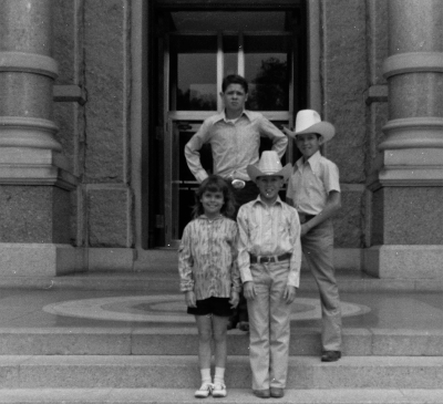 Ben H English and siblings - On the Steps of the State Capitol in Austin, TX